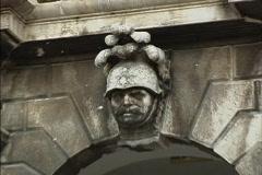 Dubrovnik Knight's head above door Stock Footage