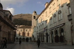 Dubrovnik Looking toward Sponza Palace Stock Footage