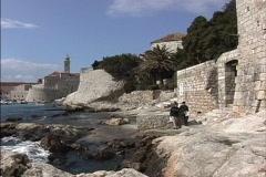 Dubrovnik Mediterranean shore Stock Footage