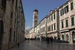 Dubrovnik Placa in afternoon Stock Footage