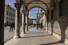 Dubrovnik Portico Sponza Palace Stock Footage