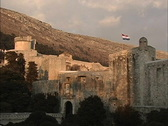 Stock Video Footage of Dubrovnik Walls in late evening