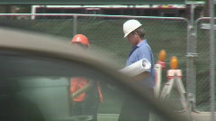 Construction supervisors on site - Series 2 - 6 Stock Footage