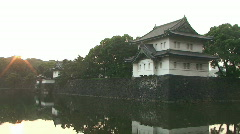 Imperial Palace In Tokyo Stock Footage