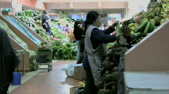 Ecuador Inside market - stock footage