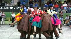 Ecuador Dancers at Mitad del Mundo  Stock Footage