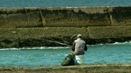 Catching a fish Stock Footage