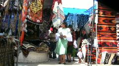 Ecuador Otovalo market with people - stock footage