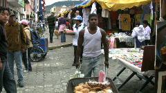 Ecuador Otovalo market with people Stock Footage