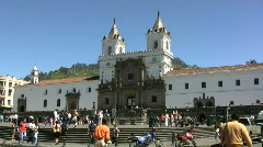 Ecuador Quito church Stock Footage