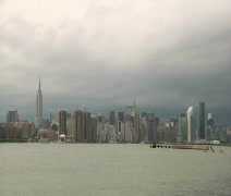 Time Lapse, Clouds, New York City Skylin2 - stock footage