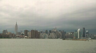 Time Lapse, Clouds, New York City Skylin2 Stock Footage