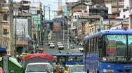 Ecuador town Ambato traffic Stock Footage