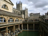 England Bath church & baths Stock Footage