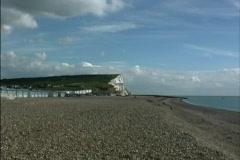 England Beach at Beachy Head Stock Footage