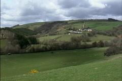 England Exmoor landscape Stock Footage