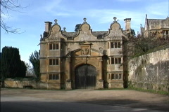 England Gate in Cotswolds Stock Footage