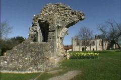 England Glastonbury ruins Stock Footage