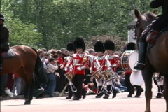 England Guard parade Stock Footage