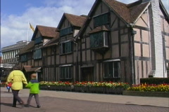 England Half timbered house Stratford Stock Footage