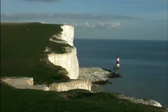 Lighthouse at Beachy Head Stock Footage