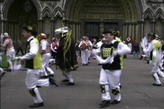 England Morris dancers Stock Footage