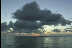 Evening clouds over lagoon Stock Footage