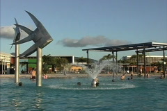 Fountain in pool Cairns Stock Footage