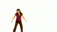 Dancing over white Stock Footage