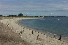 France Beach near Carnac Stock Footage