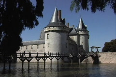 France Chateau Sully-s-Loire Stock Footage