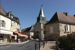 France Dordogne village Stock Footage