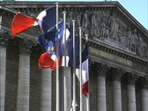 Stock Video Footage of France Flags at National Assembly