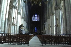 France Inside Reims cathedral Stock Footage