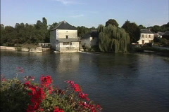 France Mill on the Indre River Stock Footage