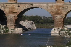 France Pont du Gard pull out Stock Footage