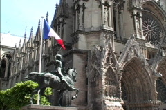 France Reims Joan of Arc Stock Footage