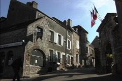 France Vezelay streets Stock Footage