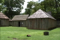 French fort Natchitoches LA Stock Footage
