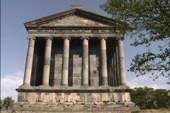Front view of temple Armenia Stock Footage