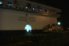 Gatun Locks at night Stock Footage