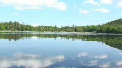Sky Reflection in Lake Water Stock Footage