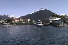 Alaska Sitka from Water Stock Footage