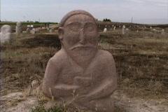 Grave marker Krygzstan Stock Footage