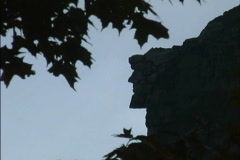Great Stone Face NH Stock Footage
