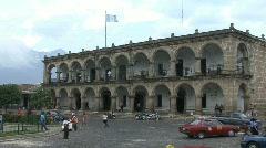 Guatemala Antigua colonial building - stock footage