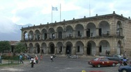 Guatemala Antigua colonial building Stock Footage