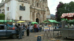 Guatemala Antigua pilgrimage church Stock Footage
