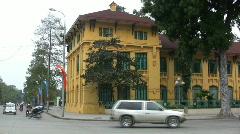 Hano Yellow European building Stock Footage