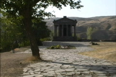 Hellenistic temple Armenia Stock Footage
